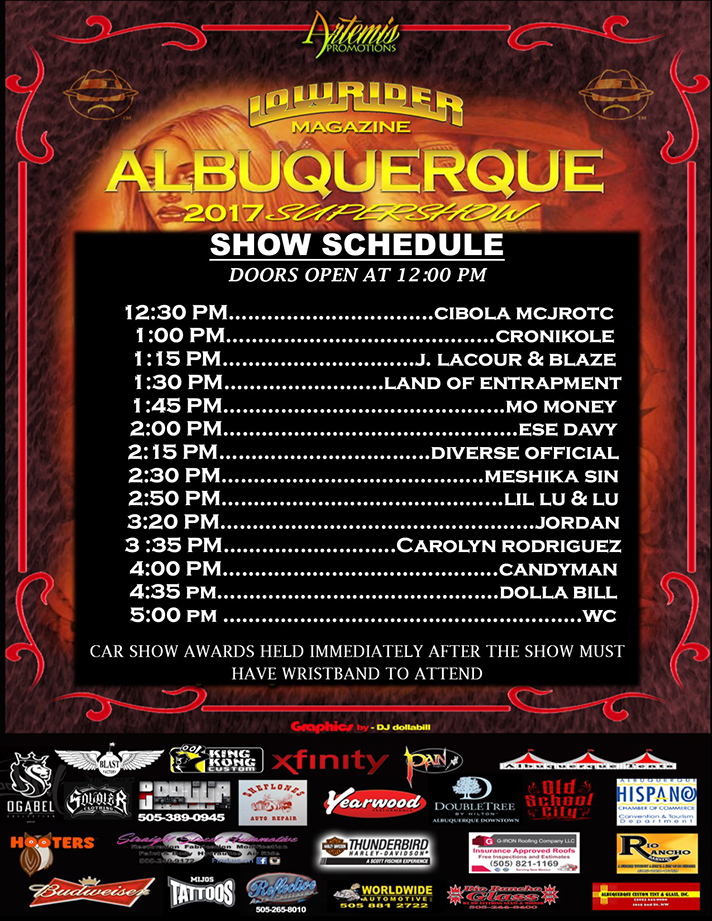 2017 New Mexico Super Show Concert Schedule